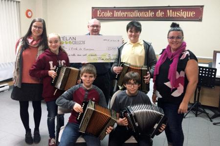 L'Élan collectif offre un soutien à L'École internationale de musique de Montmagny